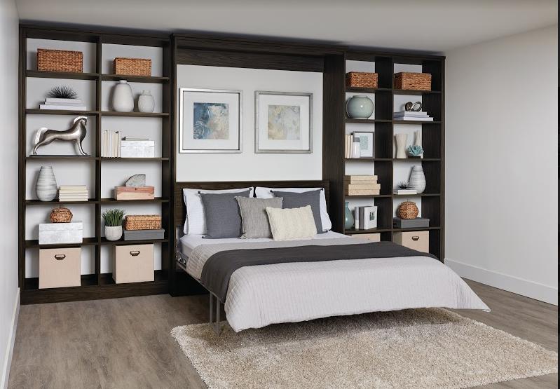murphy bed bedroom storage brown boise idaho