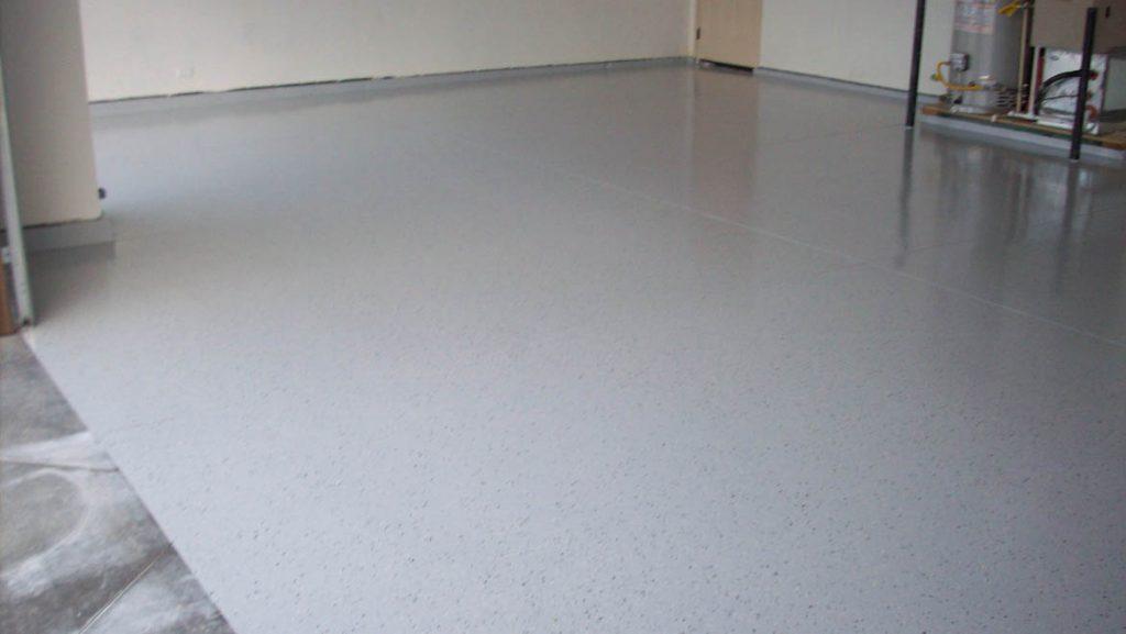 gray flake garage epoxy coating